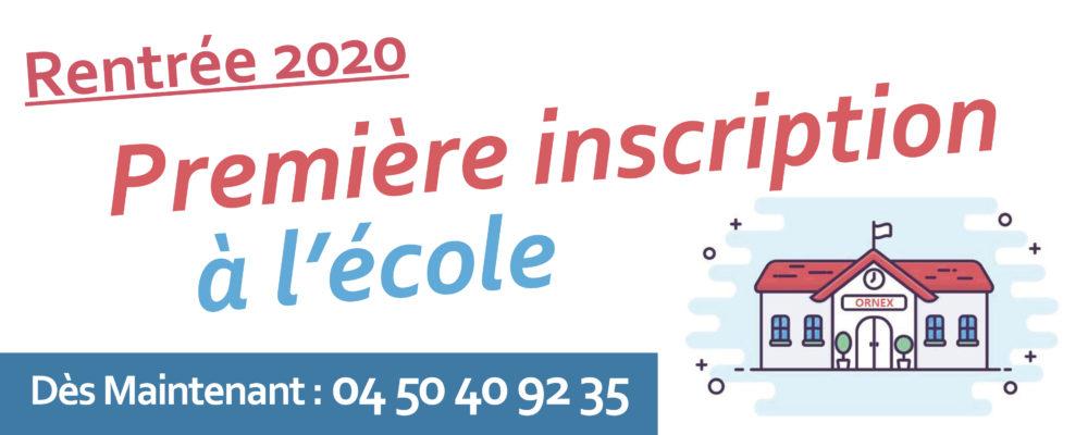 Encart site internet (inscriptions ecole)