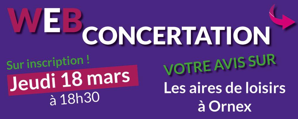 Encart site internet - Web concertation 18 mars
